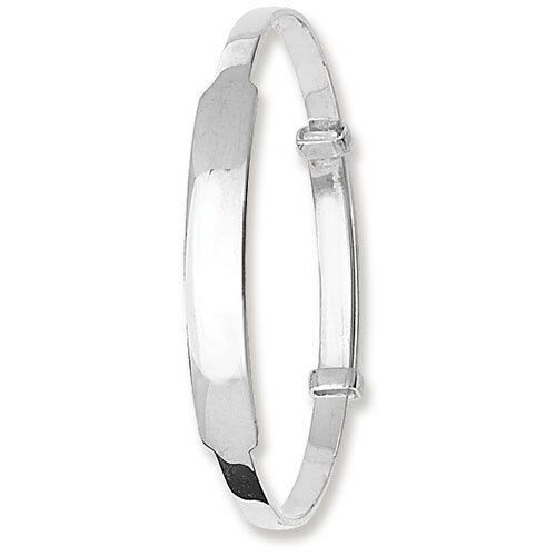 Identity Baby Bangle Sterling Silver 925 Christening Gift
