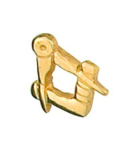 Masonic Tie Tack Tie Pin Yellow Gold Made To Order in Jewellery Quarter B''ham